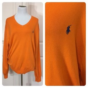 Polo Ralph Lauren orange sweater